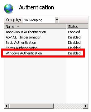 IIS Authentication - Just Anonymous